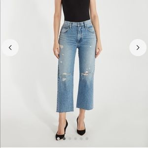 extreme baggy cropped Hudson jeans